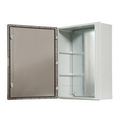 szafka rozdzielcza herm.500x700x250mm IP65, drzwi przeźroczyste