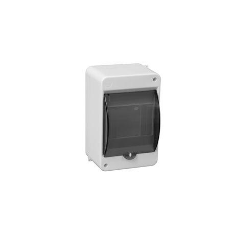 Obudowa natynkowa S-4 N+PE z szybką dymną, IP30, biała