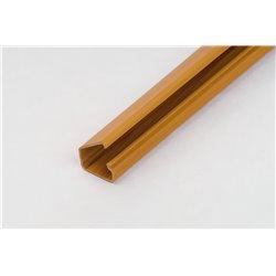 Kanał kablowy 12x7mm, samoprzylepny, imitacja drewna, jasny brąz, opakowanie 40mb