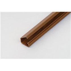 Kanał kablowy 12x7mm, samoprzylepny, imitacja drewna, ciemny brąz, opakowanie 40mb