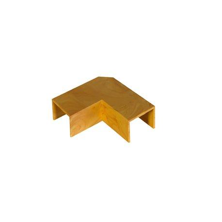 Kolanko do kanału kablowego 18x13mm, imitacja drewna, jasny brąz, opakowanie 10 szt.