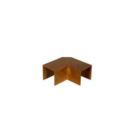 Kolanko do kanału kablowego 18x18mm, imitacja drewna, ciemny brąz, opakowanie 10 szt.