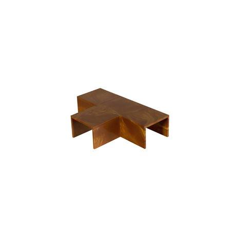 Trójnik do kanału kablowego 100x40mm, imitacja drewna, ciemny brąz, opakowanie 4 szt.