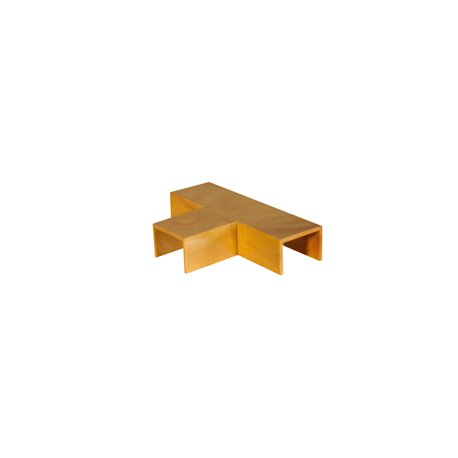 Trójnik do kanału kablowego 15x10mm, imitacja drewna, jasny brąz, opakowanie 10 szt.