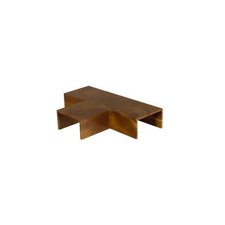 Trójnik do kanału kablowego 15x10mm, imitacja drewna, ciemny brąz, opakowanie 10 szt.
