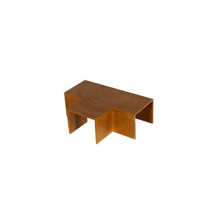 Trójnik do kanału kablowego 60x40mm, imitacja drewna, ciemny brąz