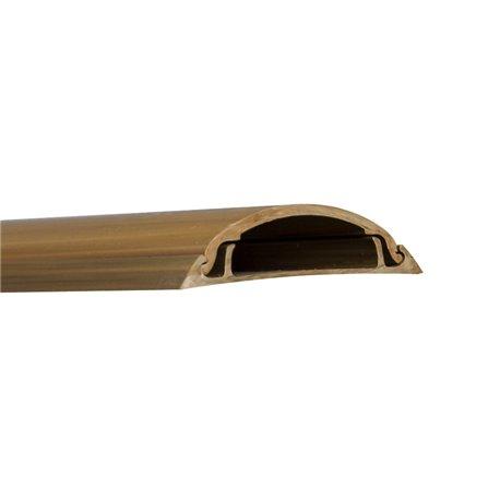 Kanał podłogowy 40x/12mm, imitacja drewna, ciemny brąz, opakowanie 16m