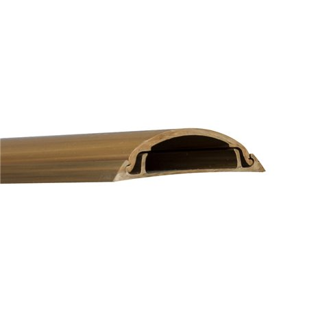 Kanał podłogowy 50x/12mm, imitacja drewna, ciemny brąz, opakowanie 16m