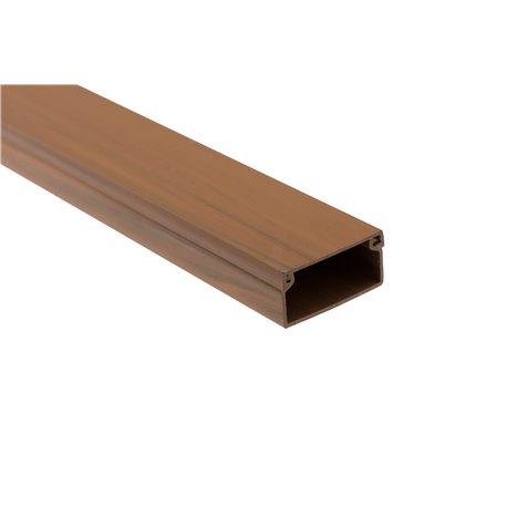 Kanał kablowy 30x25mm, imitacja drewna, ciemny brąz, 60mb