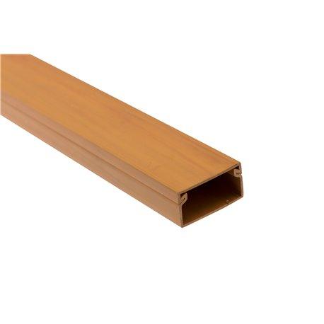 Kanał kablowy 30x15mm, imitacja drewna, jasny brąz, opakowanie 88mb