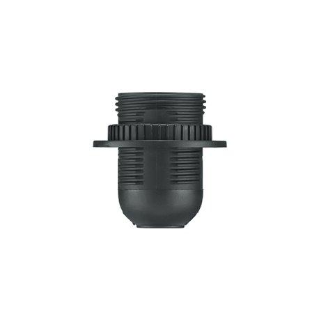Oprawka termoplastyczna E27-1 z kołnierzem, czarna