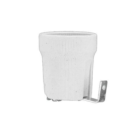 Oprawka porcelanowa E27 typ 426, biała, grubsza blaszka