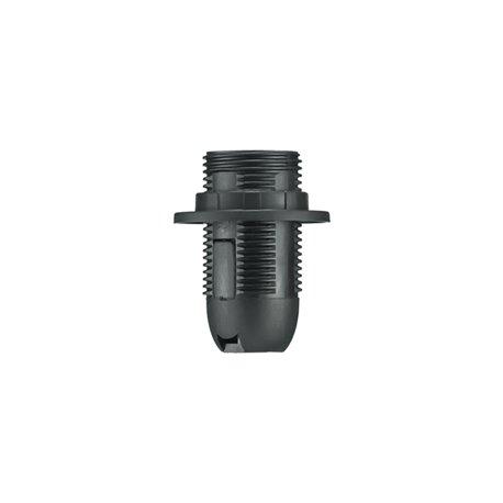 Oprawka termoplastyczna E14-1 z kołnierzem, czarna