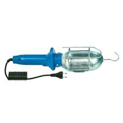 Lampa przenośna PL-2, kabel 5m gumowy, oprawka E27 ceramiczna, niebieska