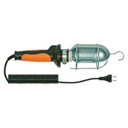 Lampa przenośna PL-3 , kabel 10m, oprawka E27 ceramiczna, pomarańczowa
