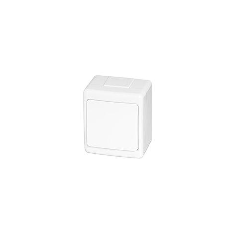 Wyłącznik hermetyczny BETA, pojedynczy, jednobiegunowy, IP44, biały