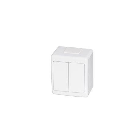 Wyłącznik hermetyczny BETA, pojedynczy, świecznikowy, IP44, biały