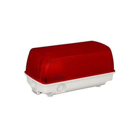 Oprawa oświetleniowa SEZAR, IP54, czerwona