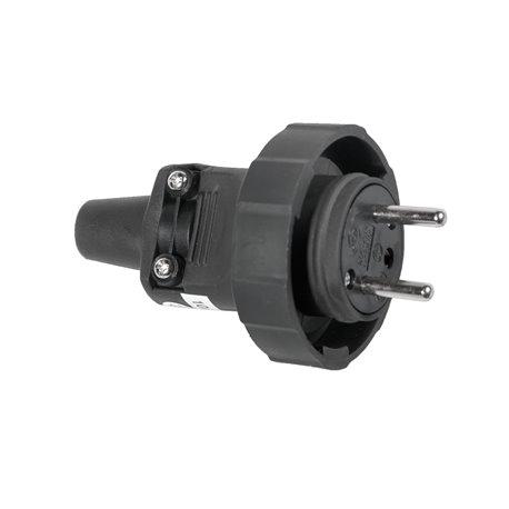 Wtyczka gumowa przenośna 250V/16A, IP65, czarna