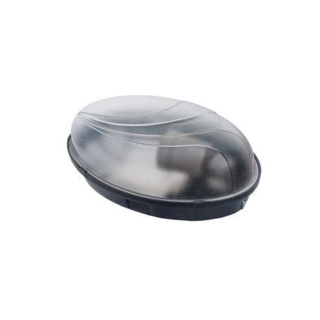 Oprawa oświetleniowa hermetyczna PUMA Oval  60W/PL11, IP65,czarna
