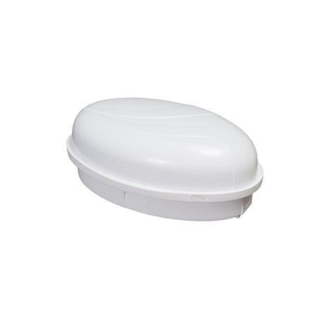 Oprawa oświetleniowa hermetyczna PUMA Oval  60W/PL11, IP65,mleczna, biała