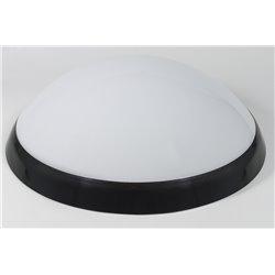 oprawaPANTERA LUX czarny pierścień, klosz mleczny,świetlówka niezintegrowana 2x9W,czujn.ruchu