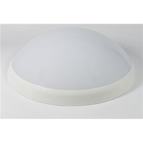 oprawaPANTERA LUX biały pierścień, klosz mleczny,świetlówka niezintegrowana 2x9W czuj.ruchu