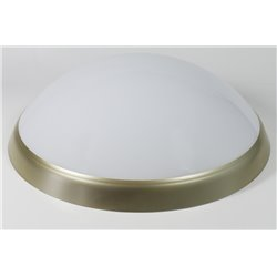 oprawaPANTERA LUX złoty pierścień, klosz mleczny,czuj.ruchu, świetlówka niezintegrowana 2x9W