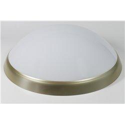 oprawaPANTERA LUX złoty pierścień, klosz mleczny, płytka LED, biały zimny