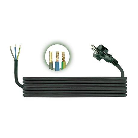 Przewód przyłączeniowy H05RR F 3x1, długość 1,5m, czarny