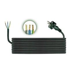 Przewód przyłączeniowy H05RR F 3x1,5, długość 3m, czarny