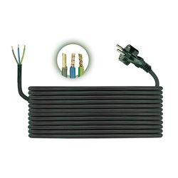 Przewód przyłączeniowy H05RR F 3x1,5, długość 5m, czarny