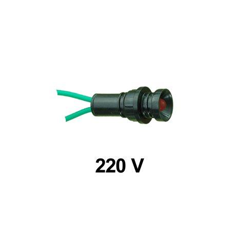 Kontrolka diodowa KLP-5 250V, czerwona, opakowanie 100 szt.
