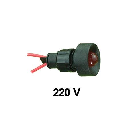 Kontrolka diodowa KLP-10 250V, czerwona, opakowanie 50 szt.