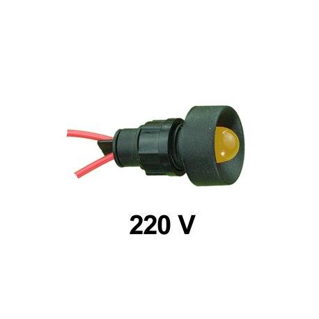 Kontrolka diodowa KLP-10 250V, żółta, opakowanie 50 szt.
