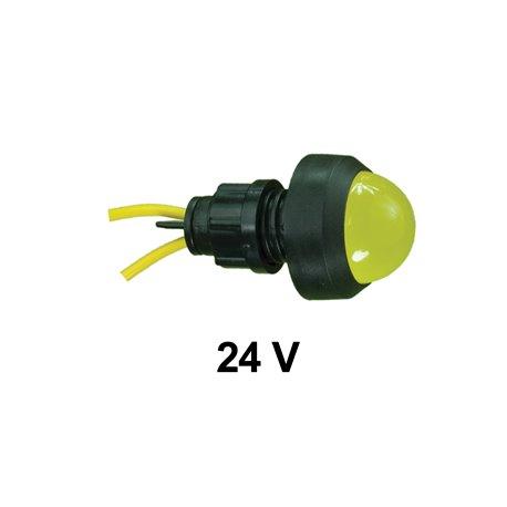 Kontrolka diodowa KLP-20 24V, żółta, opakowanie 50 szt.
