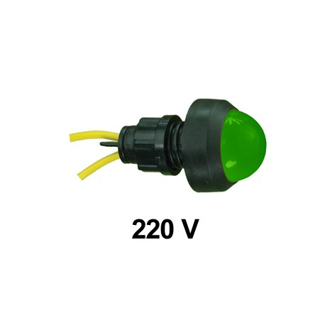 Kontrolka diodowa KLP-20 250V, zielona, opakowanie 50 szt.