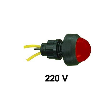 Kontrolka diodowa KLP-20 250V, czerwona, opakowanie 50 szt.