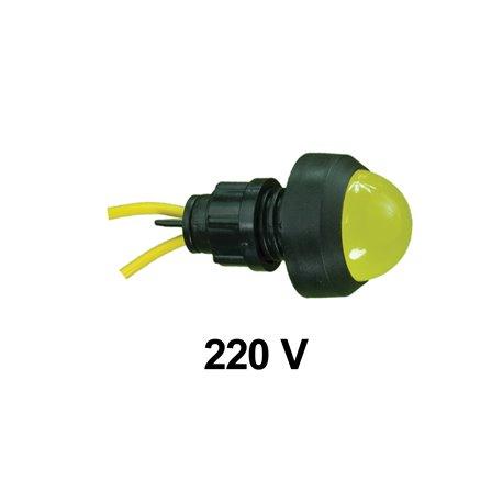 Kontrolka diodowa KLP-20 250V, żółta, opakowanie 50 szt.