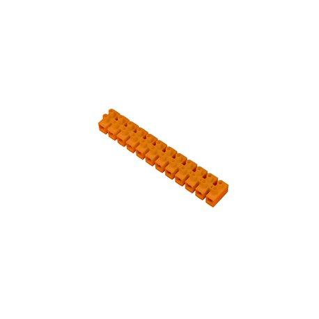 Listwa zaciskowa 12 torowa PS-4mm2, pomarańczowa, opakowanie 10 szt.