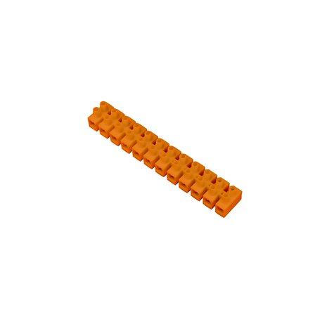 Listwa zaciskowa 12 torowa PS-6mm2, pomarańczowa, opakowanie 10 szt.