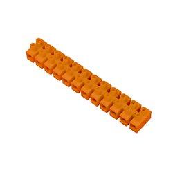 Listwa zaciskowa 12 torowa PS-25mm2,pomarańczowa, opakowanie 10 szt.