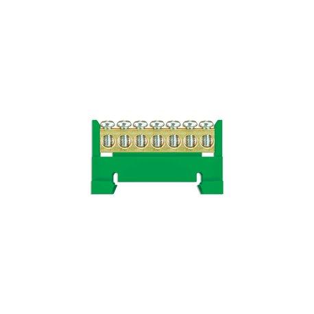 Listwa zaciskowa LZ 7/Z 7x16mm2, mocowana na szynę, zielona, opakowanie 10 szt.