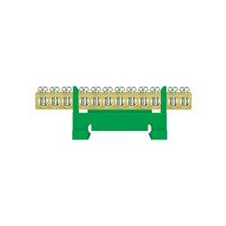 Listwa zaciskowa LZ 12/Z 12x16mm2, mocowana na szynę, zielona, opakowanie 10 szt.