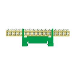 Listwa zaciskowa LZ 15/Z 15x16mm2, mocowana na szynę, zielona, opakowanie 10 szt.