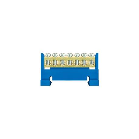Listwa zaciskowa LZ 7/N 7x16mm2, mocowana na szynę, niebieska, opakowanie 10 szt.