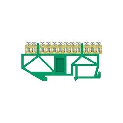 Listwa zaciskowa LZ 12/Z 12x16mm2, wysoka podstawa, mocowana na szynę TH35, zielona, opakowanie 10 szt.