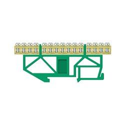 Listwa zaciskowa LZ 15/Z 15x16mm2, wysoka podstawa, mocowana na szynę TH35, zielona, opakowanie 10 szt.