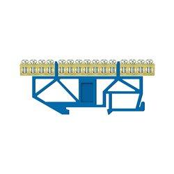 Listwa zaciskowa LZ 15/N 15x16mm2, wysoka podstawa, mocowana na szynę TH35, niebieska, opakowanie 10 szt.