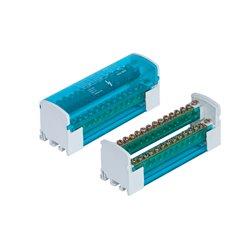 Listwa łączeniowa 2x15 zacisków, 125A/500V, blok